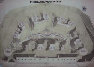 The Armament plan of the Middelgrunds Fort