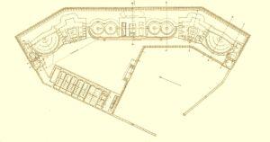 Floor plan of the Mellemfort